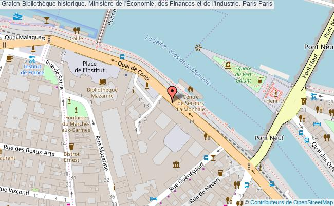 plan association Bibliothèque Historique. Ministère De L'Économie, Des Finances Et De L'industrie. Paris Paris