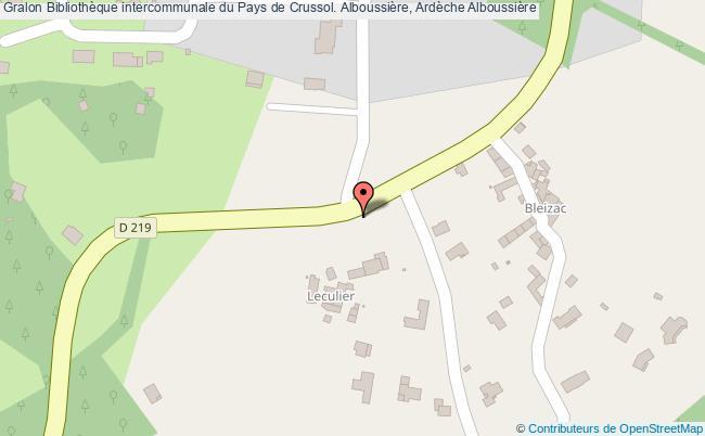 plan association Bibliothèque Intercommunale Du Pays De Crussol. Alboussière, Ardèche Alboussière