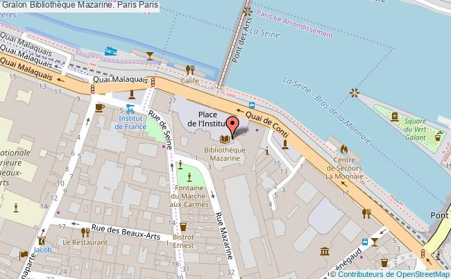 plan association Bibliothèque Mazarine. Paris Paris