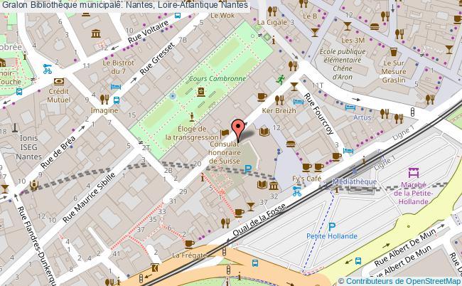 plan association Bibliothèque Municipale. Nantes, Loire-atlantique Nantes
