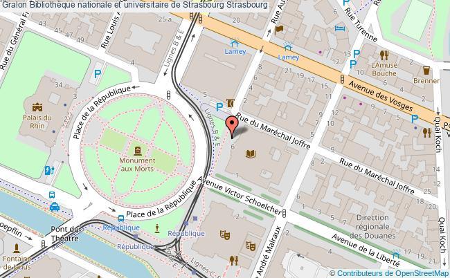 plan association Bibliothèque Nationale Et Universitaire De Strasbourg Strasbourg