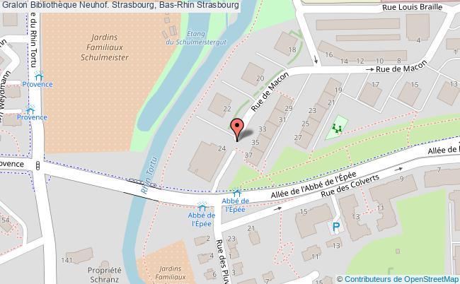 plan association Bibliothèque Neuhof. Strasbourg, Bas-rhin Strasbourg