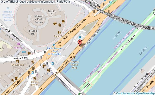 plan association Bibliothèque Publique D'information. Paris Paris