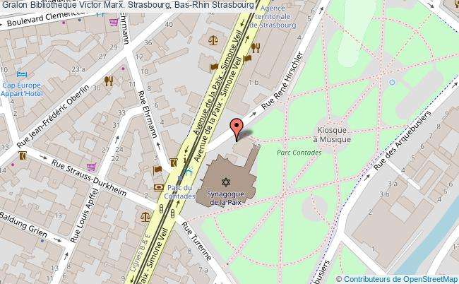 plan association Bibliothèque Victor Marx. Strasbourg, Bas-rhin Strasbourg