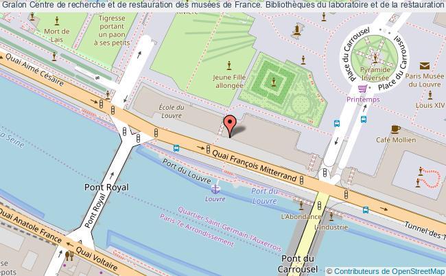 plan association Centre De Recherche Et De Restauration Des Musées De France. Bibliothèques Du Laboratoire Et De La Restauration Paris