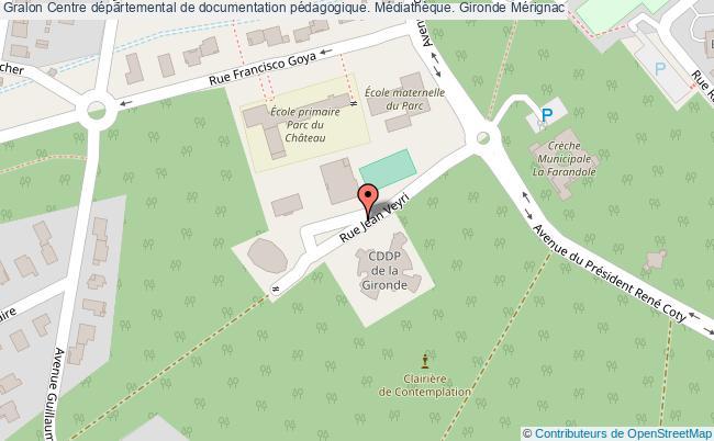 plan association Centre Départemental De Documentation Pédagogique. Médiathèque. Gironde Mérignac