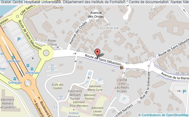 plan association Centre Hospitalier Universitaire. Département Des Instituts De Formation * Centre De Documentation. Nantes Nantes