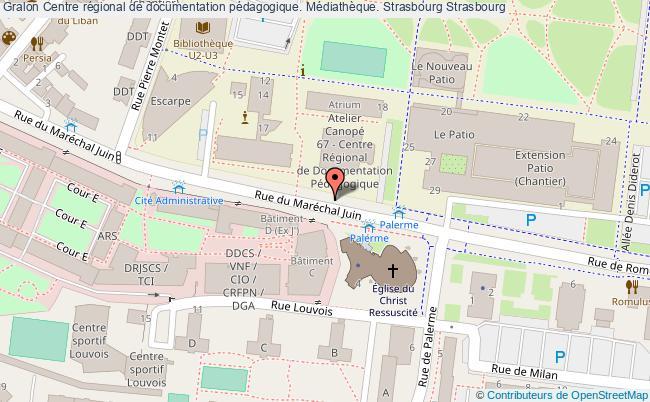 plan association Centre Régional De Documentation Pédagogique. Médiathèque. Strasbourg Strasbourg