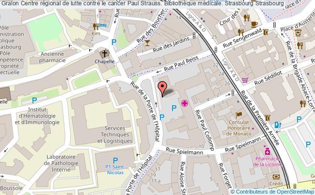 plan association Centre Régional De Lutte Contre Le Cancer Paul Strauss. Bibliothèque Médicale. Strasbourg Strasbourg