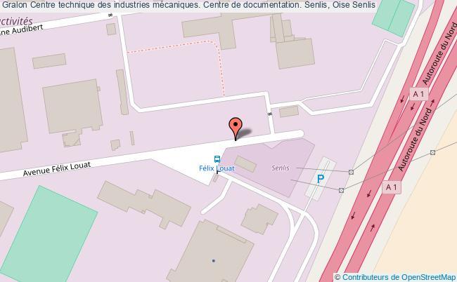 plan association Centre Technique Des Industries Mécaniques. Centre De Documentation. Senlis, Oise Senlis