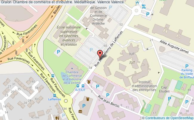 plan association Chambre De Commerce Et D'industrie. Médiathèque. Valence Valence