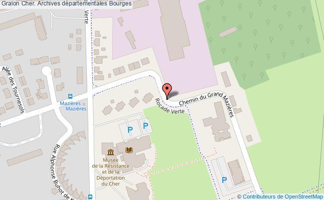 plan association Cher. Archives Départementales Bourges