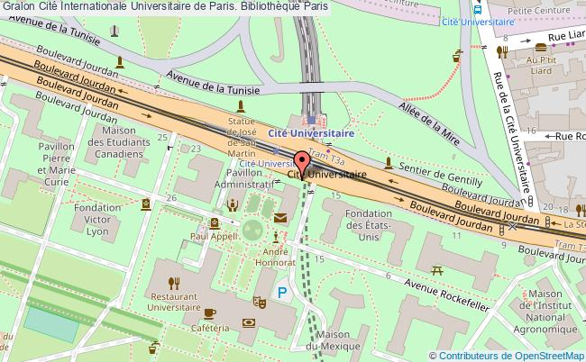 plan association Cité Internationale Universitaire De Paris. Bibliothèque Paris