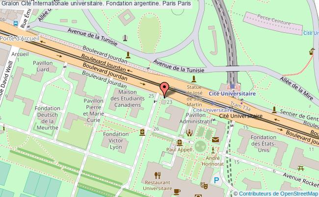 plan association Cité Internationale Universitaire. Fondation Argentine. Paris Paris