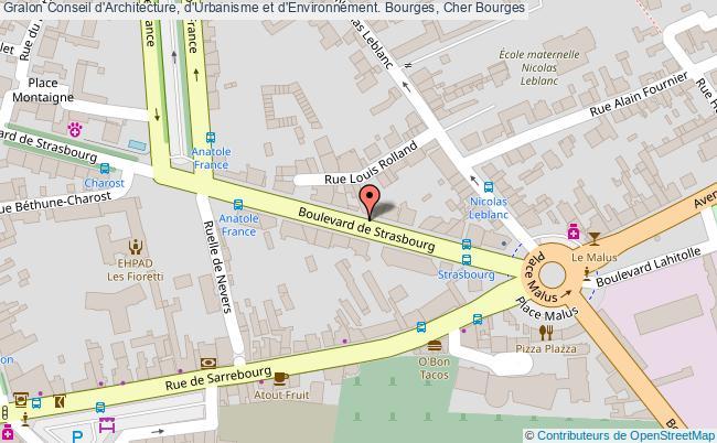 plan association Conseil D'architecture, D'urbanisme Et D'environnement. Bourges, Cher Bourges