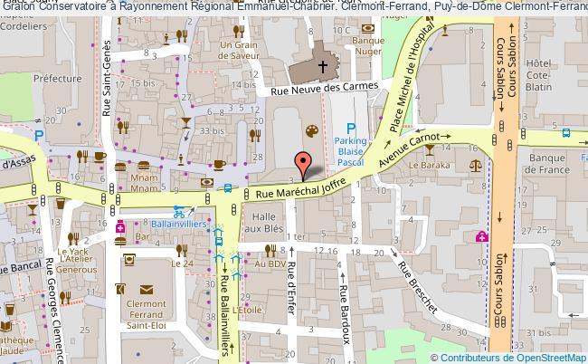 plan association Conservatoire à Rayonnement Régional Emmanuel-chabrier. Clermont-ferrand, Puy-de-dôme Clermont-Ferrand