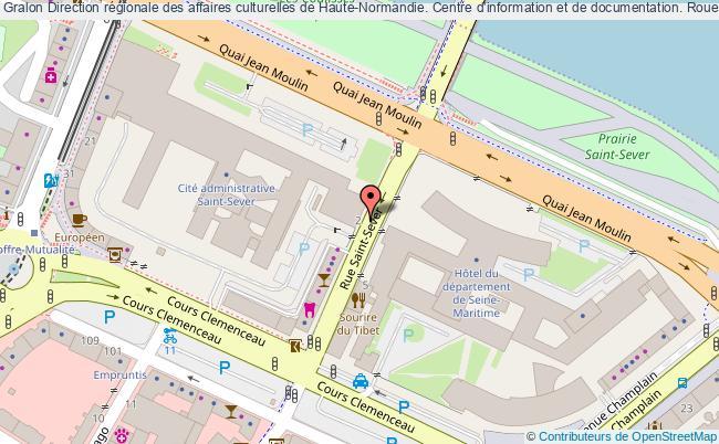 plan association Direction Régionale Des Affaires Culturelles De Haute-normandie. Centre D'information Et De Documentation. Rouen, Seine- Maritime. Rouen