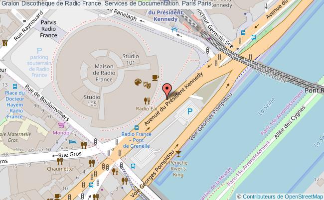 plan association Discothèque De Radio France. Services De Documentation. Paris Paris