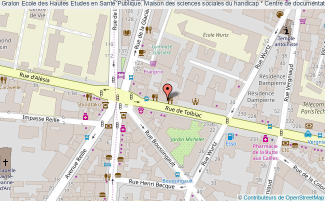 plan association Ecole Des Hautes Etudes En Santé Publique. Maison Des Sciences Sociales Du Handicap * Centre De Documentation. Paris Paris