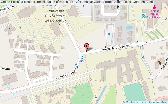 plan association Ecole Nationale D'administration Pénitentiaire. Médiathèque Gabriel Tarde. Agen, Lot-et-garonne Agen