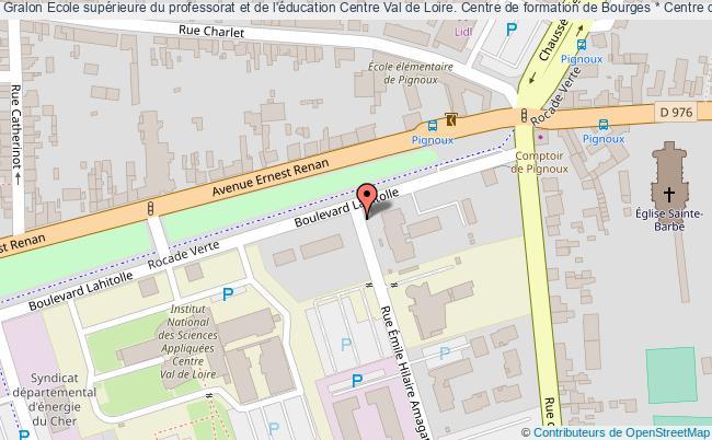 plan association Ecole Supérieure Du Professorat Et De L'éducation Centre Val De Loire. Centre De Formation De Bourges * Centre De Ressources Documentaires Bourges