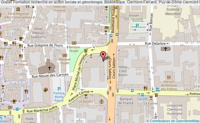 plan association Formation Recherche En Action Sociale Et Gérontologie. Bibliothèque. Clermont-ferrand, Puy-de-dôme Clermont-Ferrand
