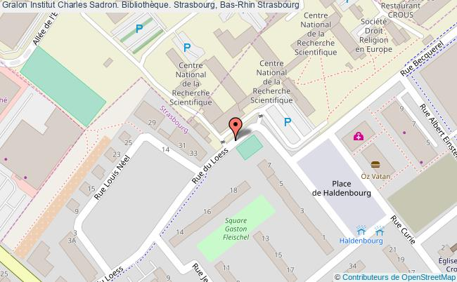 plan association Institut Charles Sadron. Bibliothèque. Strasbourg, Bas-rhin Strasbourg