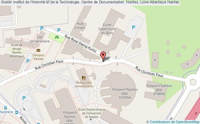 plan association Institut De L'homme Et De La Technologie. Centre De Documentation. Nantes, Loire-atlantique Nantes