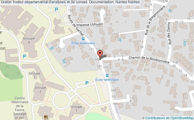 plan association Institut Départemental D'analyses Et De Conseil. Documentation. Nantes Nantes