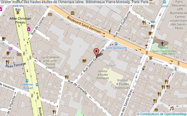 plan association Institut Des Hautes études De L'amérique Latine. Bibliothèque Pierre-monbeig. Paris Paris