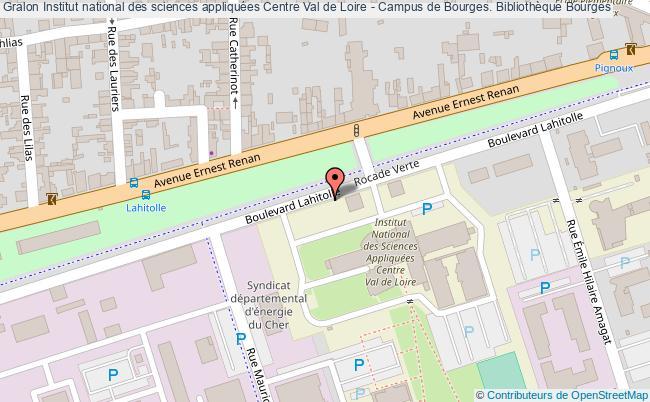 plan association Institut National Des Sciences Appliquées Centre Val De Loire - Campus De Bourges. Bibliothèque Bourges