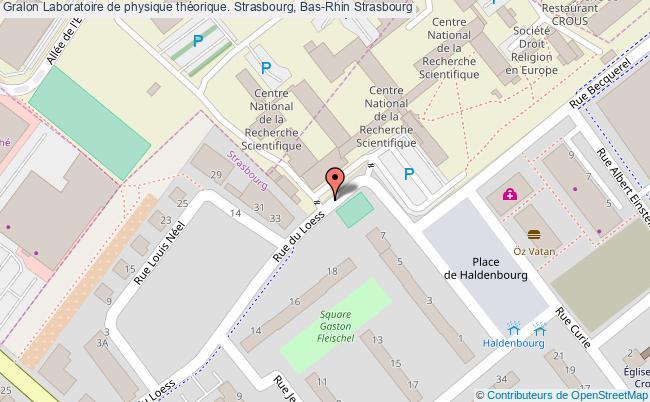 plan association Laboratoire De Physique Théorique. Strasbourg, Bas-rhin Strasbourg