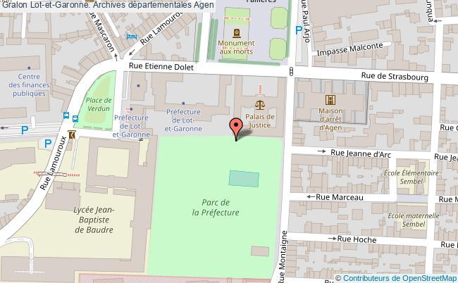 plan association Lot-et-garonne. Archives Départementales Agen