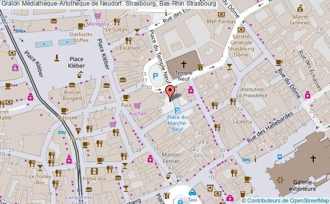 plan association Médiathèque-artothèque De Neudorf. Strasbourg, Bas-rhin Strasbourg