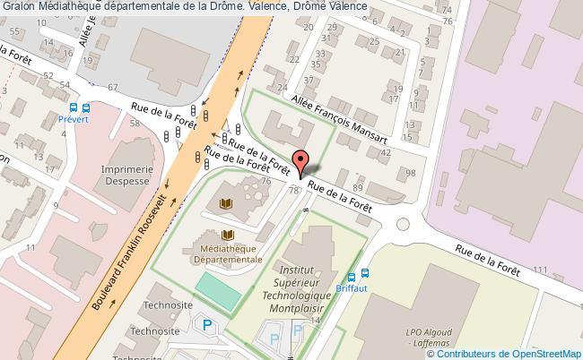plan association Médiathèque Départementale De La Drôme. Valence, Drôme Valence