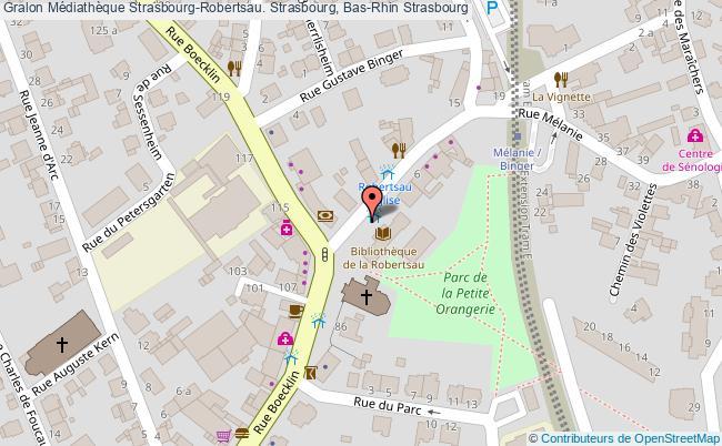plan association Médiathèque Strasbourg-robertsau. Strasbourg, Bas-rhin Strasbourg