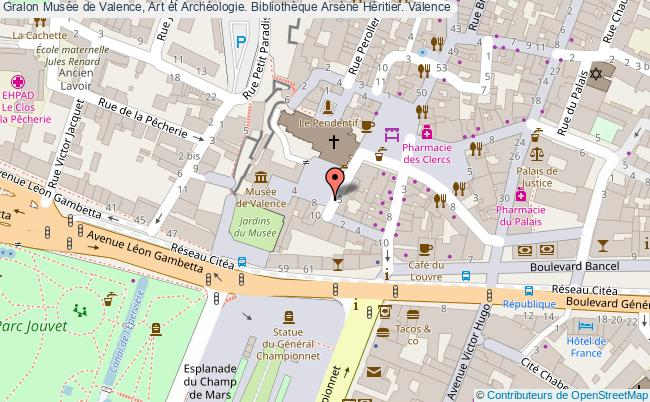 plan association Musée De Valence, Art Et Archéologie. Bibliothèque Arsène Héritier. Valence