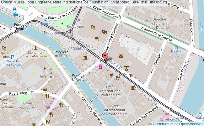 plan association Musée Tomi Ungerer-centre International De L'illustration. Strasbourg, Bas-rhin Strasbourg