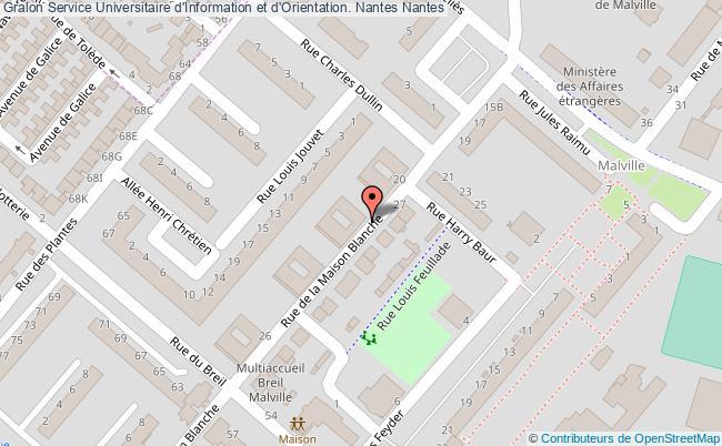 plan association Service Universitaire D'information Et D'orientation. Nantes Nantes