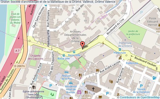 plan association Société D'archéologie Et De La Statistique De La Drôme. Valence, Drôme Valence