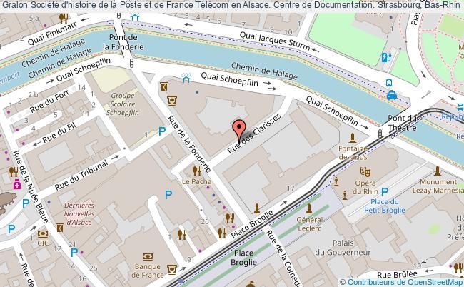 plan association Société D'histoire De La Poste Et De France Télécom En Alsace. Centre De Documentation. Strasbourg, Bas-rhin Strasbourg