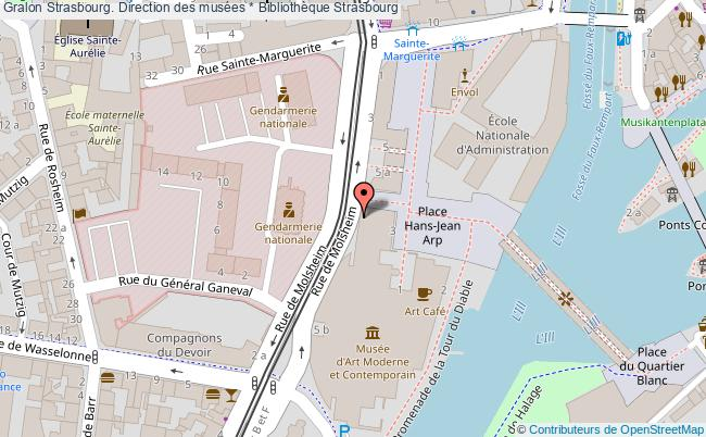 plan association Strasbourg. Direction Des Musées * Bibliothèque Strasbourg