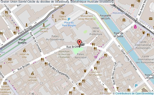 plan association Union Sainte-cécile Du Diocèse De Strasbourg. Bibliothèque Musicale Strasbourg