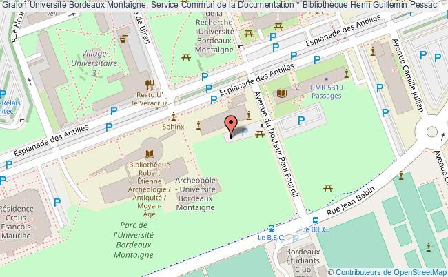 Carte Universite De Bordeaux.Universite Bordeaux Montaigne Service Commun De La
