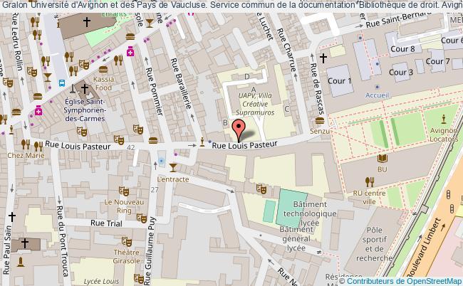 plan association Université D'avignon Et Des Pays De Vaucluse. Service Commun De La Documentation*bibliothèque De Droit. Avignon Avignon