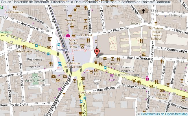 Carte Bibliotheque Bordeaux.Universite De Bordeaux Direction De La Documentation