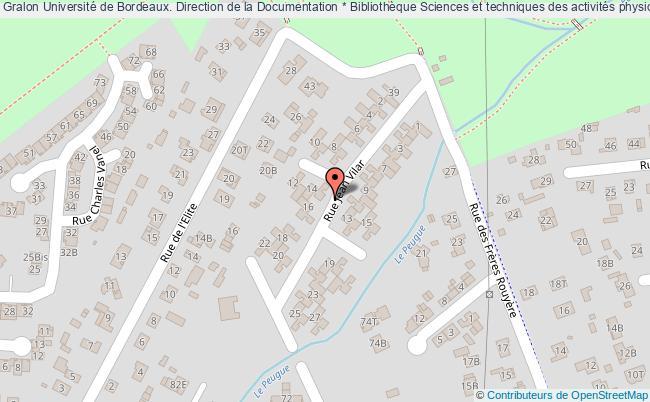 Carte Universite De Bordeaux.Universite De Bordeaux Direction De La Documentation