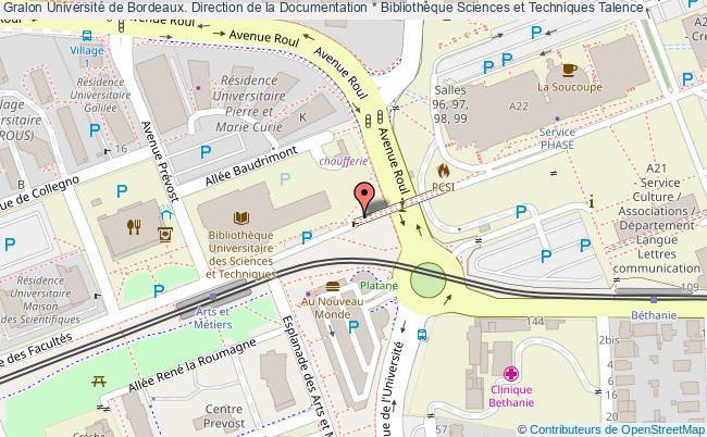Carte Universite De Bordeaux.Universite De Bordeaux Direction De La Documentation Bibliotheque
