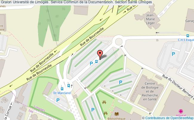 plan association Université De Limoges. Service Commun De La Documentation. Section Santé Limoges