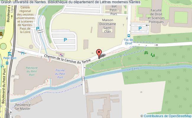 plan association Université De Nantes. Bibliothèque Du Département De Lettres Modernes Nantes